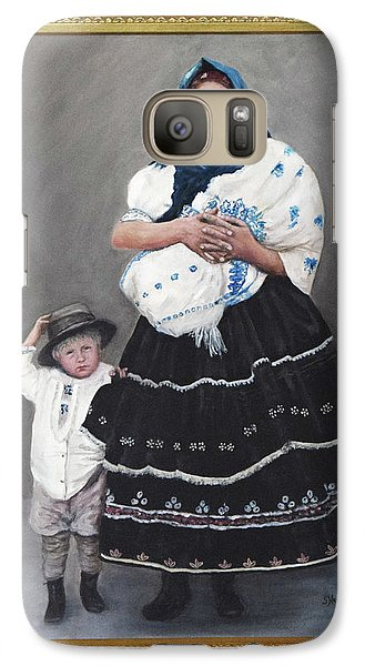 Galaxy Case featuring the painting Little Family by Sandra Nardone