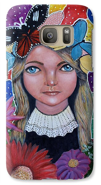 Galaxy Case featuring the painting Little Girls Dream by Saranya Haridasan