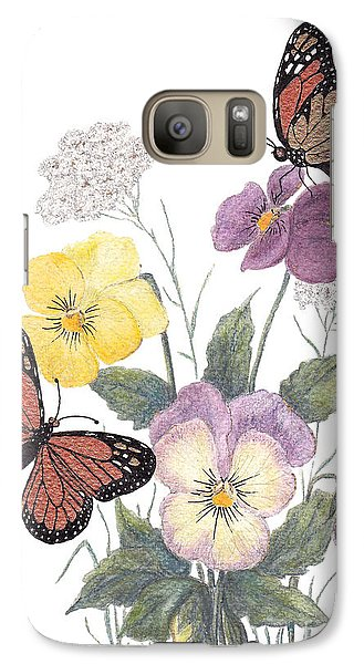 Galaxy Case featuring the painting Little Heartsease by Stanza Widen