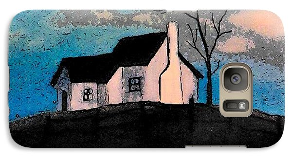 Galaxy Case featuring the drawing Little House On The Hill by John Stuart Webbstock