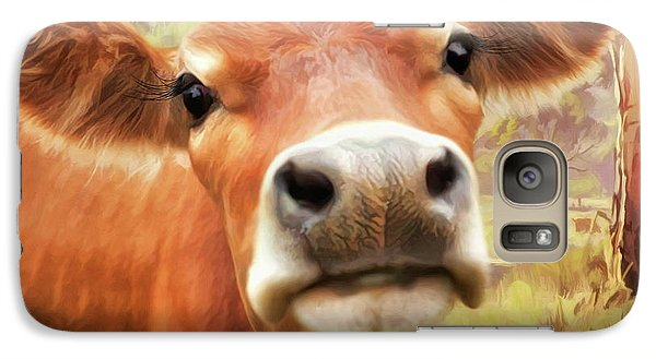 Galaxy Case featuring the digital art  Little Jersey by Trudi Simmonds