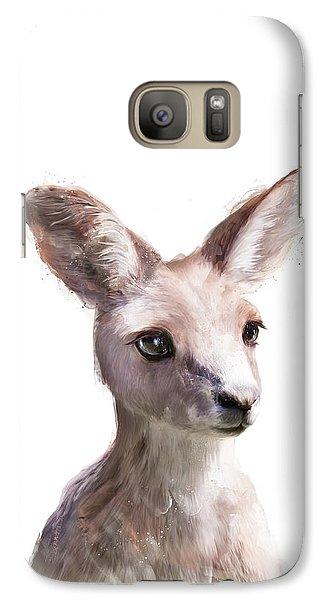 Little Kangaroo Galaxy Case by Amy Hamilton