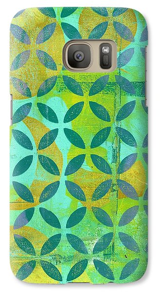 Galaxy Case featuring the mixed media Little Lemon Tree by Lisa Noneman