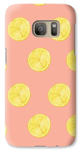 Little Lemons Galaxy Case by Allyson Johnson