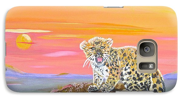 Galaxy Case featuring the painting Little Leopard by Phyllis Kaltenbach