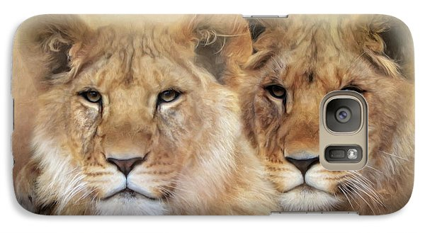 Galaxy Case featuring the digital art Little Lions by Trudi Simmonds