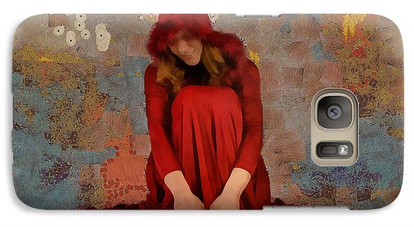 Galaxy Case featuring the mixed media Little Mel Riding Hood by Trish Tritz