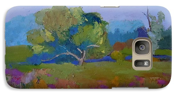 Galaxy Case featuring the painting Little Miami Meadow by Francine Frank