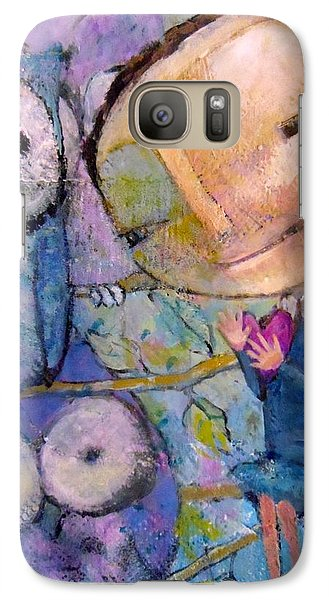 Galaxy Case featuring the painting Little Miss Wise Heart by Eleatta Diver