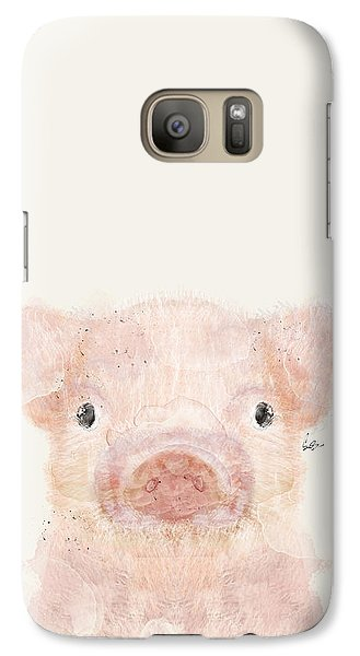Little Pig Galaxy S7 Case by Bri B