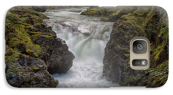 Galaxy Case featuring the photograph Little Qualicum Lower Falls by Randy Hall