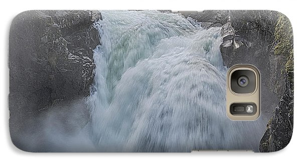 Galaxy Case featuring the photograph Little Qualicum Upper Falls by Randy Hall