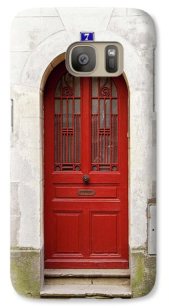 Galaxy Case featuring the photograph Little Red Door by Melanie Alexandra Price
