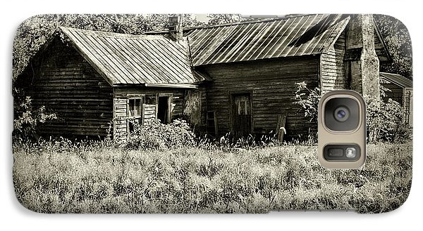 Galaxy Case featuring the photograph Little Red Farmhouse In Black And White by Paul Ward