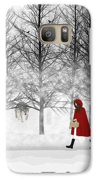 Galaxy Case featuring the digital art Little Red by Nancy Levan