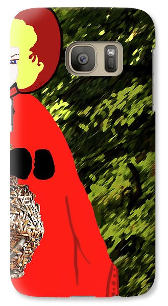 Galaxy Case featuring the painting Little Red Riding Hood In The Forest by Marian Cates