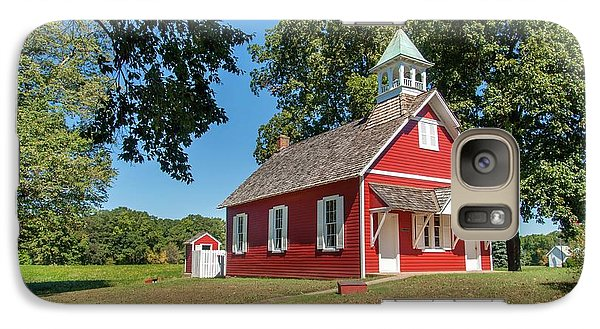 Galaxy Case featuring the photograph Little Red School House by Charles Kraus