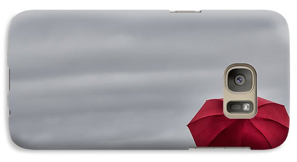 Galaxy Case featuring the photograph Little Red Umbrella In A Big Universe by Don Schwartz