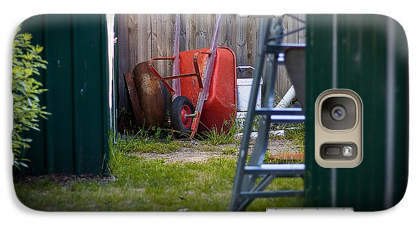 Galaxy Case featuring the photograph Little Red Wagon by Tim Nichols