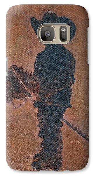Galaxy Case featuring the painting Little Rider by Leslie Allen