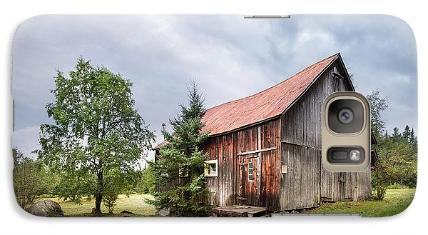 Galaxy Case featuring the photograph Little Rustic Barn, Adirondacks by Gary Heller