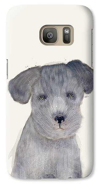 Galaxy Case featuring the painting Little Schnauzer by Bri B