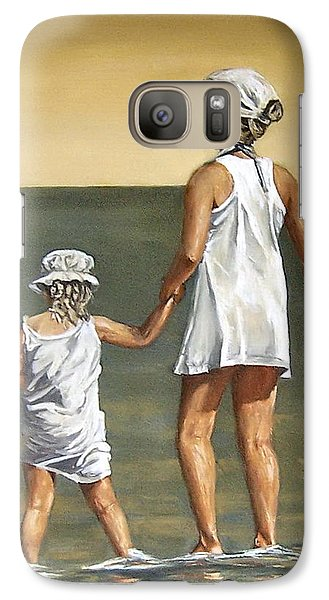 Galaxy Case featuring the painting Little Sisters by Natalia Tejera