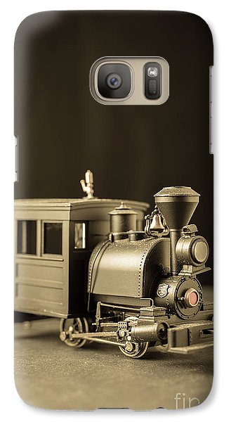Galaxy Case featuring the photograph Little Steam Locomotive by Edward Fielding