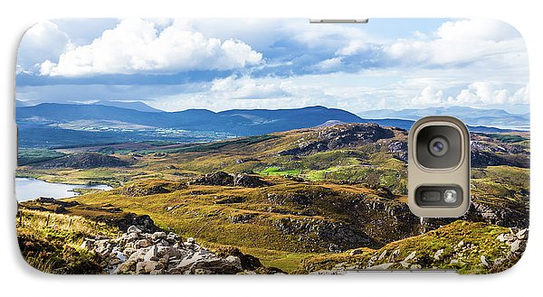Galaxy Case featuring the photograph Little Stream Running Down The Macgillycuddy's Reeks by Semmick Photo