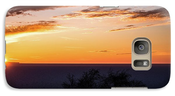 Galaxy Case featuring the photograph Little Traverse Bay Sunset by Onyonet  Photo Studios