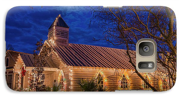 Galaxy Case featuring the photograph Little Village Church With Star From Heaven Above The Steeple by Bonnie Barry