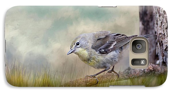 Galaxy Case featuring the photograph Little Warbler In Louisiana Winter by Bonnie Barry