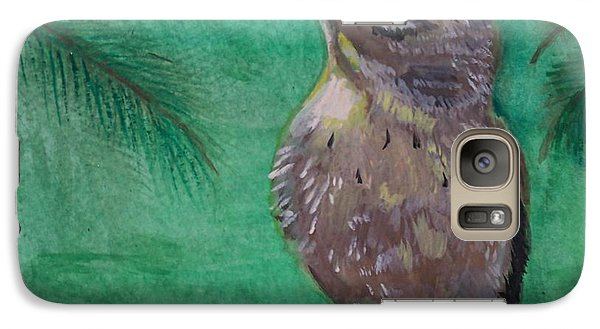 Galaxy Case featuring the painting Little Warbler by Leslie Allen