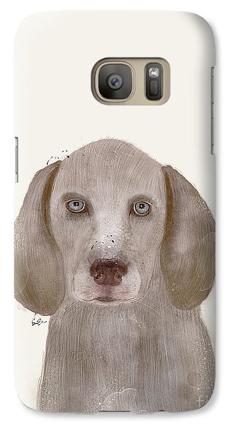 Galaxy Case featuring the painting little Weimaraner by Bri B