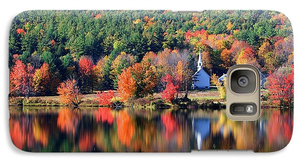 Galaxy Case featuring the photograph 'little White Church', Eaton, Nh	 by Larry Landolfi