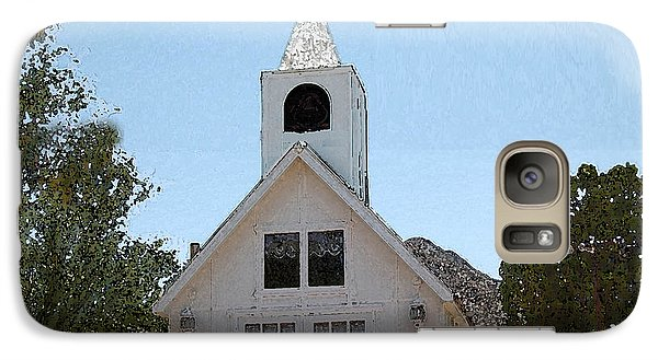Galaxy Case featuring the digital art Little White Church by Walter Chamberlain