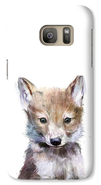 Little Wolf Galaxy Case by Amy Hamilton