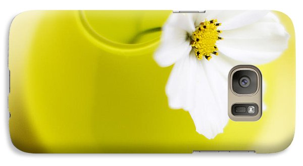 Flowers Galaxy S7 Case - Little Yellow Vase by Rebecca Cozart