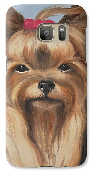 Galaxy Case featuring the painting Little Yorkshire Princess by Jindra Noewi