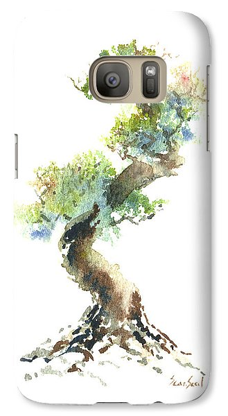 Galaxy Case featuring the painting Little Zen Tree 1692 by Sean Seal