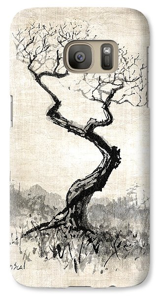 Galaxy Case featuring the painting Little Zen Tree 1820 by Sean Seal