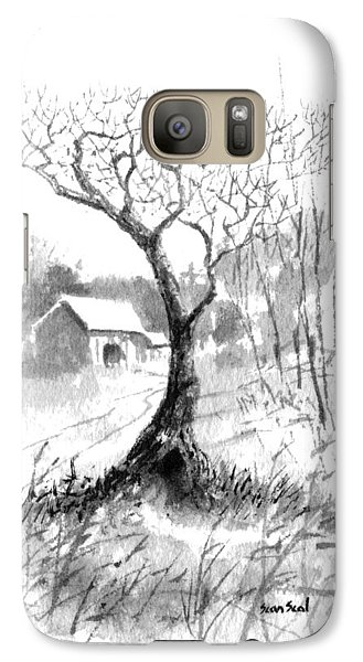 Galaxy Case featuring the painting Little Zen Tree 1832 by Sean Seal