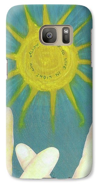 Galaxy Case featuring the mixed media Live In Light by Desiree Paquette