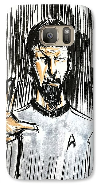 Galaxy Case featuring the drawing Live Long And Prosper...... by Tu-Kwon Thomas
