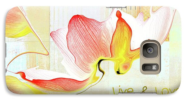Galaxy Case featuring the photograph Live N Love - Absf44b by Variance Collections