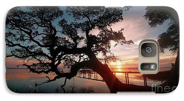 Galaxy Case featuring the photograph Live Oak Sunrise by Benanne Stiens