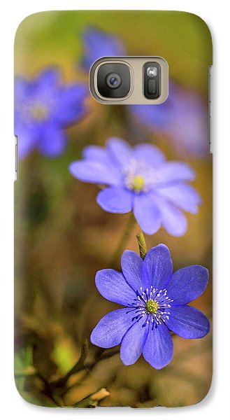 Galaxy Case featuring the photograph Liverworts In The Afternoon Sunlight by Jaroslaw Blaminsky