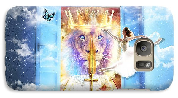 Galaxy Case featuring the digital art Living Word Of God by Dolores Develde