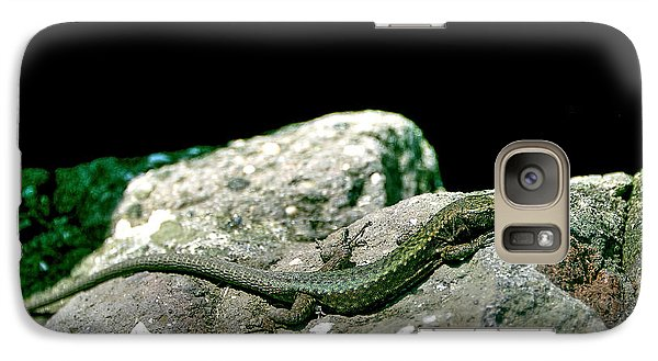Galaxy Case featuring the photograph Lizard by Gouzel -