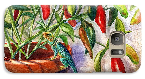 Galaxy Case featuring the painting Lizard In Hot Sauce by Marilyn Smith